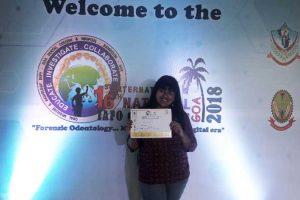Best Paper Prize won by Undergraduate Student