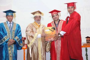 Prof. Anil Sahasrabudhe awards degrees at the sixth Convocation of MRIIRS