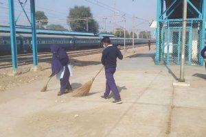 Cleanliness Drive at Old Faridabad Railway Station