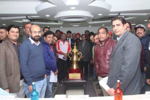 Press Release: The Champion's Trophy for the 12th Manav Rachna Corporate Cricket Challenge 2019 unveiled