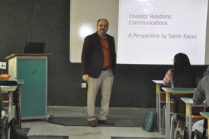 "Special lecture on ""Investor Relations Communications"" by Dr. Samir Kapur"