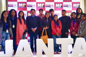 "Media students attended ""MP Summit"" by Janta TV"