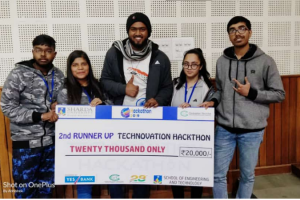 "Manav Rachna team  won Second Prize in 24hrs HACKATHON ""TECHNOVATION"""