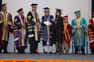 Print Coverage:  Meritorious students awarded at the second convocation of Manav Rachna University