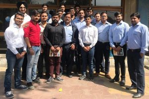 Industrial visit to JBM Industries for B.Tech Mechanical Engg. students