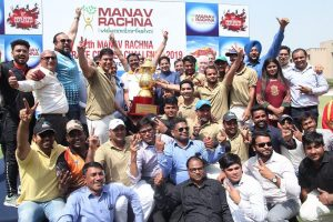 Press Release: Asian Hospital lifts the Champions Trophy of the 12th Manav Rachna Corporate Cricket Cup