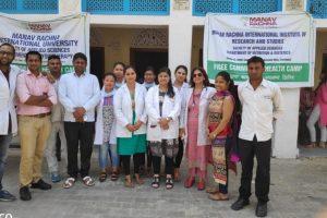 10thFree health checkup camp at Mohabtabad, Faridabad