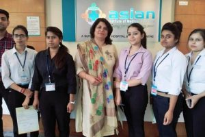 Internship of BBA Healthcare students in Asian Institute of Medical Sciences