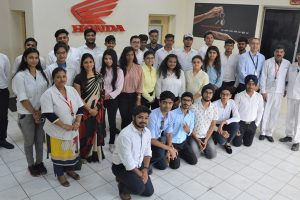 Industry visit of BBA Students to Honda Motorcycle and Scooter India Pvt. Ltd.