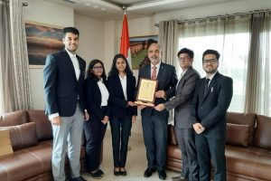 Law Students met His Excellency, Mr. Fleming Duarte