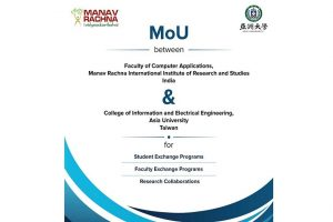MoU between MRIIRS and College of Information and Electrical Engineering, Asia University