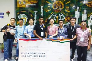 Top 10 in Singapore India Hackathon 2019
