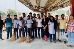 Cleanliness Drive at Faridabad Railway Station