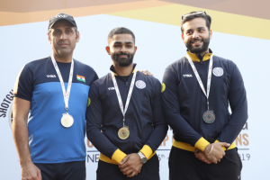 Angadvir Singh Bajwa won Gold at National Shotgun Championship
