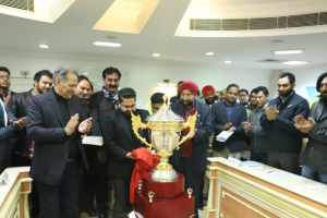The Champions' Trophy for the 13th Manav Rachna Corporate Cricket Challenge 2020 unveiled