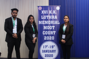 Participation in KK Luthra moot court competition, 2020