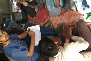 Donation drive and survey in adopted villages