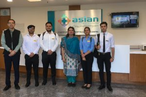 BBA Healthcare Management Students start their internship at Asian Institute of Medical Sciences