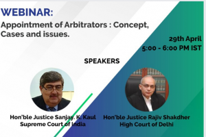 Webinar on Appointment of Arbitrators