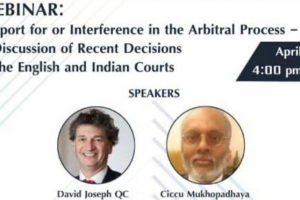 Webinar on 'Support for or Interference in the Arbitral Process'