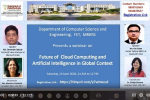 Webinar on Future of Cloud Computing and Artificial Intelligence in Global Context