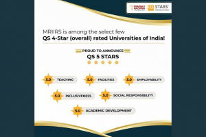 MRIIRS is among the select few QS 4-Star (overall) rated Universities of India