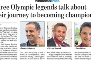 Print Coverage: Happy Times with Three Olympic Legends