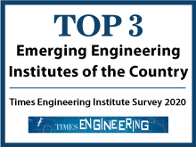 Top 3 emerging Engineering Institutes of the country