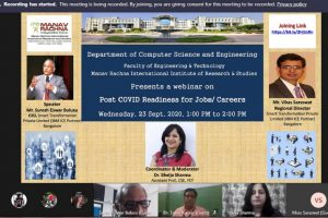 Webinar on Post COVID Readiness for Jobs/ Careers
