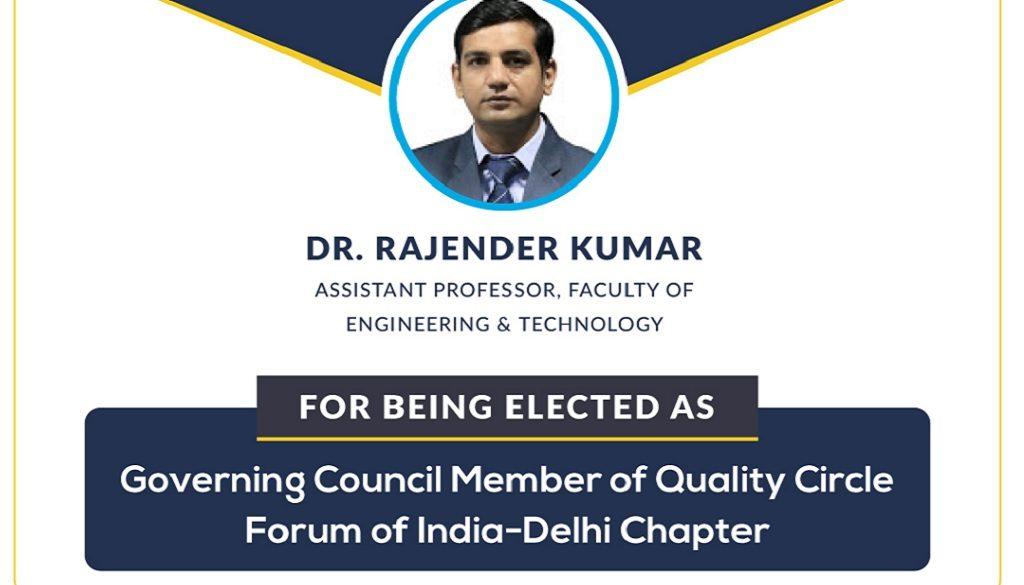 Dr Rajender Kumar