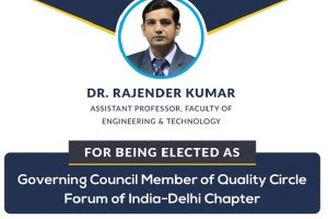 Dr. Rajender Kumar elected as Governing Council Member