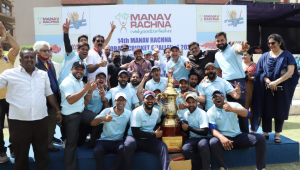 Team Manav Rachna lifts the Champions Trophy