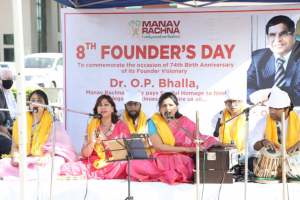 Manav Rachna paid tribute to its Founder Visionary on his 74th Birth Anniversary
