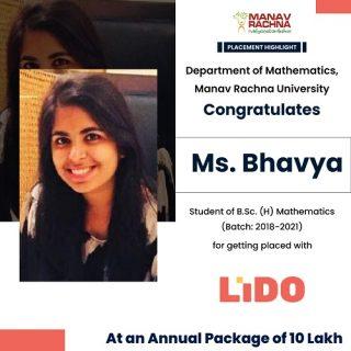 Ms. Bhavya student of B.Sc