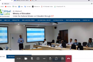 Workshop on Virtual Labs for faculty members & students of MRIIRS