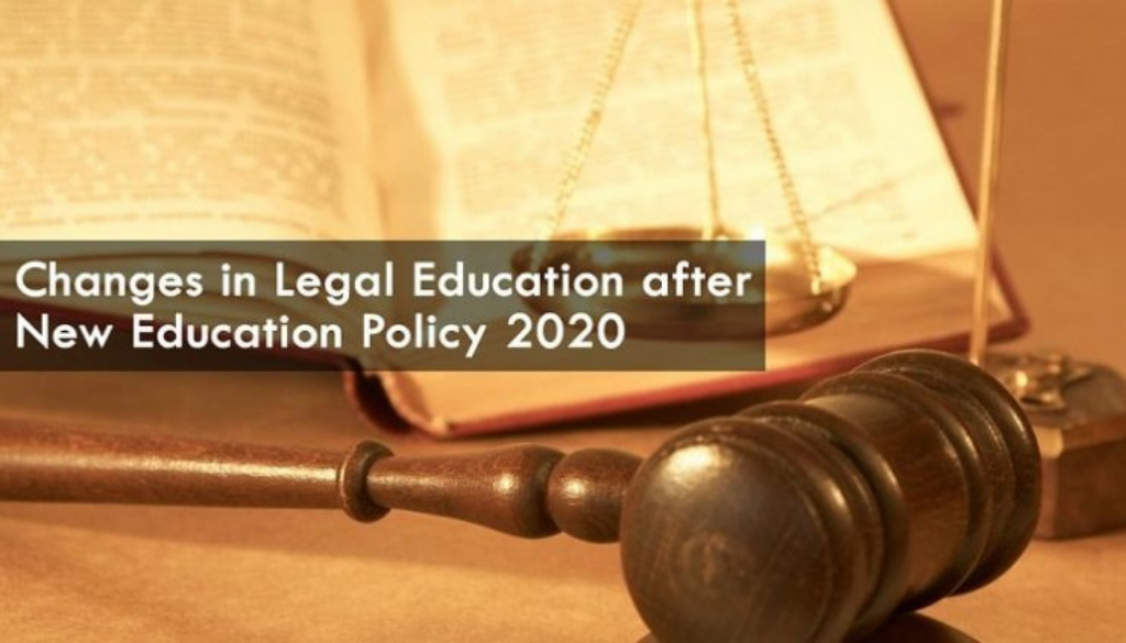 <center>Changes in Legal Education after New Education Policy 2020