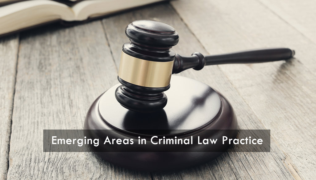 <center>Emerging Areas in Criminal Law Practice