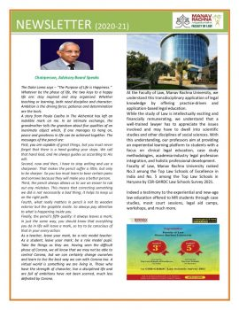 <center>Newsletter December 2020-2021
