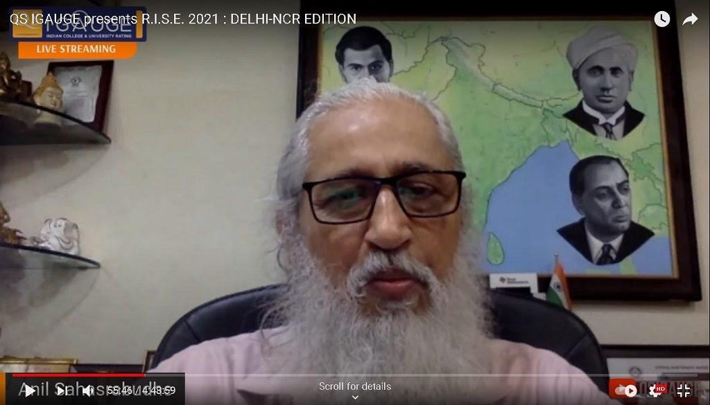 Prof. Anil D Sahasrabudhe, Chairman, AICTE