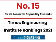 Ranked 15 for Research Capability PAN India