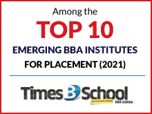 Among the Top 10 Emerging BBA Institutes for Plcement (2021)