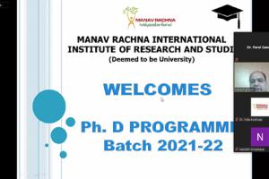 Orientation for the Ph.D. batch 2021-22